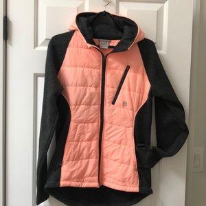 Avalanche zip front hoodie jacket